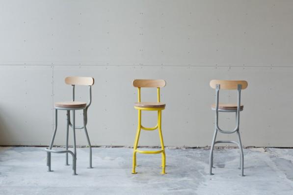 Design Kruk Keuken : Studio Rygalik industriële krukken
