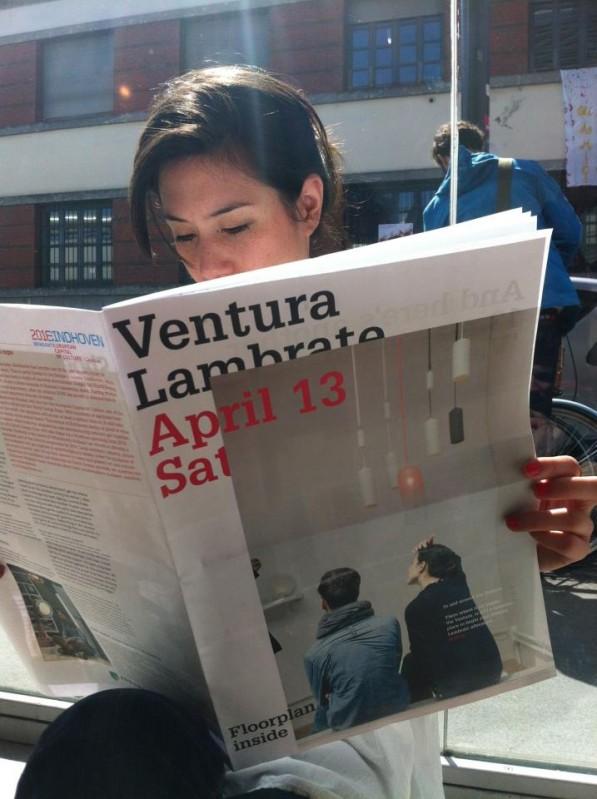 Studio WM op voorpagina van Ventura Lambrata krant