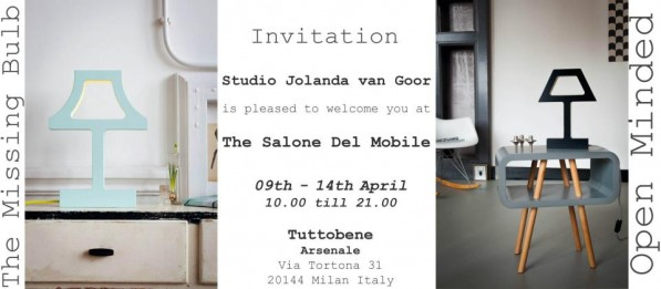 Uitnodiging van Jolanda van Goor en Tuttobene Milaan 2013