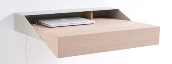 Elegant hangend tafeltje en kastje Deskbox van Raw Edges voor Arco