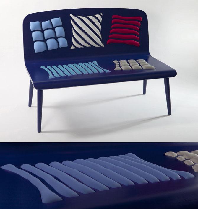 Bank Poppins van Alessandra Baldereschi blauw