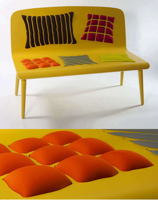 Bank Poppins van Alessandra Baldereschi geel