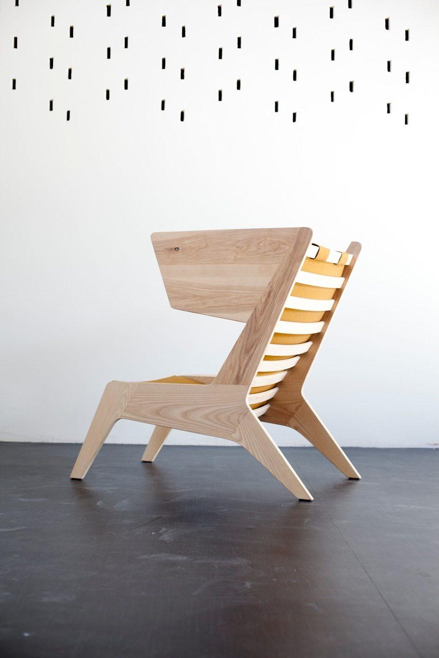Ruben van der Scheer Cheekchair houten fauteuil