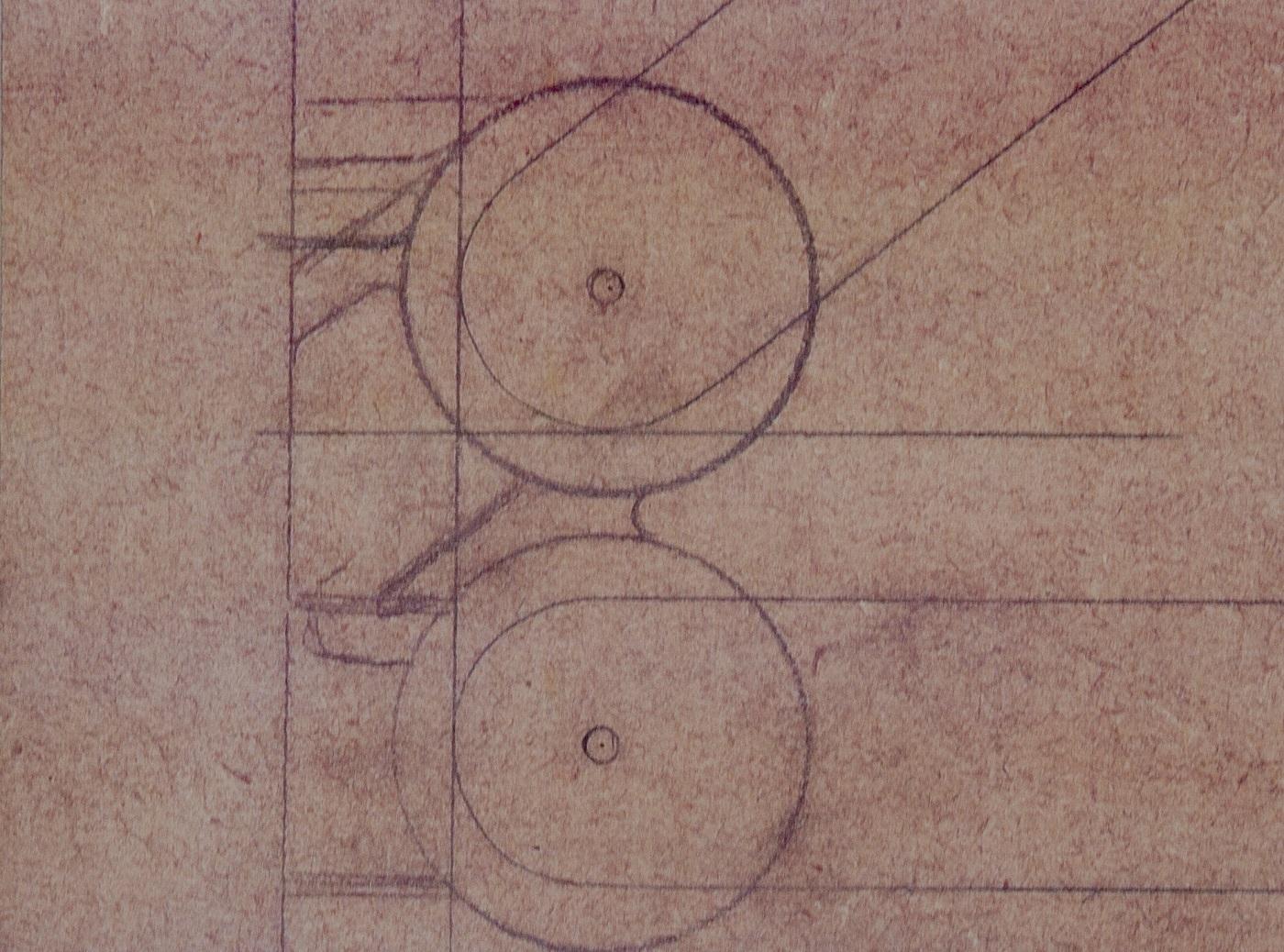 Schets van de Constructie lampen van Joost van Bleiswijk voor Moooii