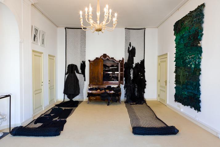 Tentoonstelling Geelvinck wandtapijt van Femke van Gemert