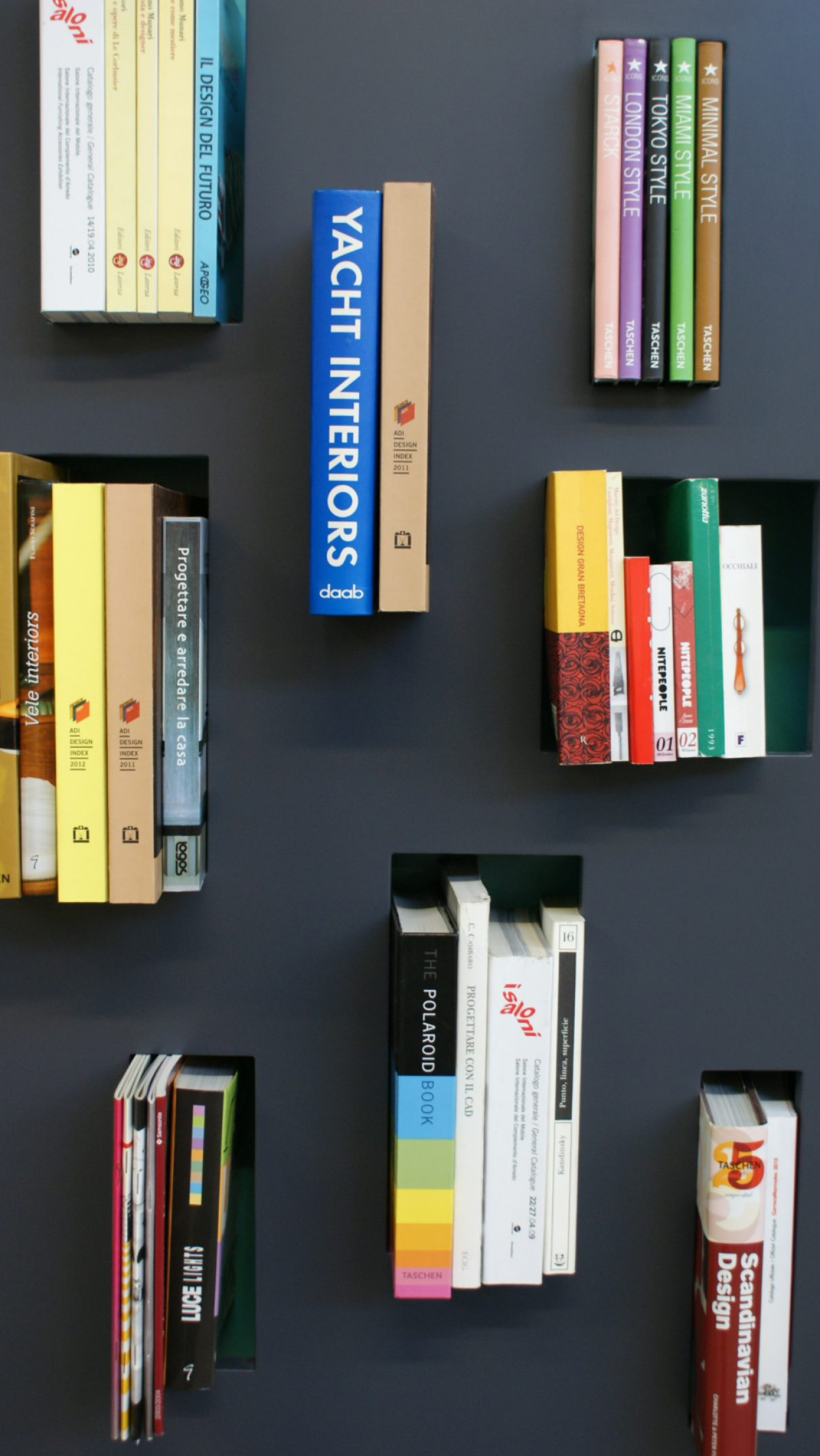 Modulaire boekenkast met vakjes
