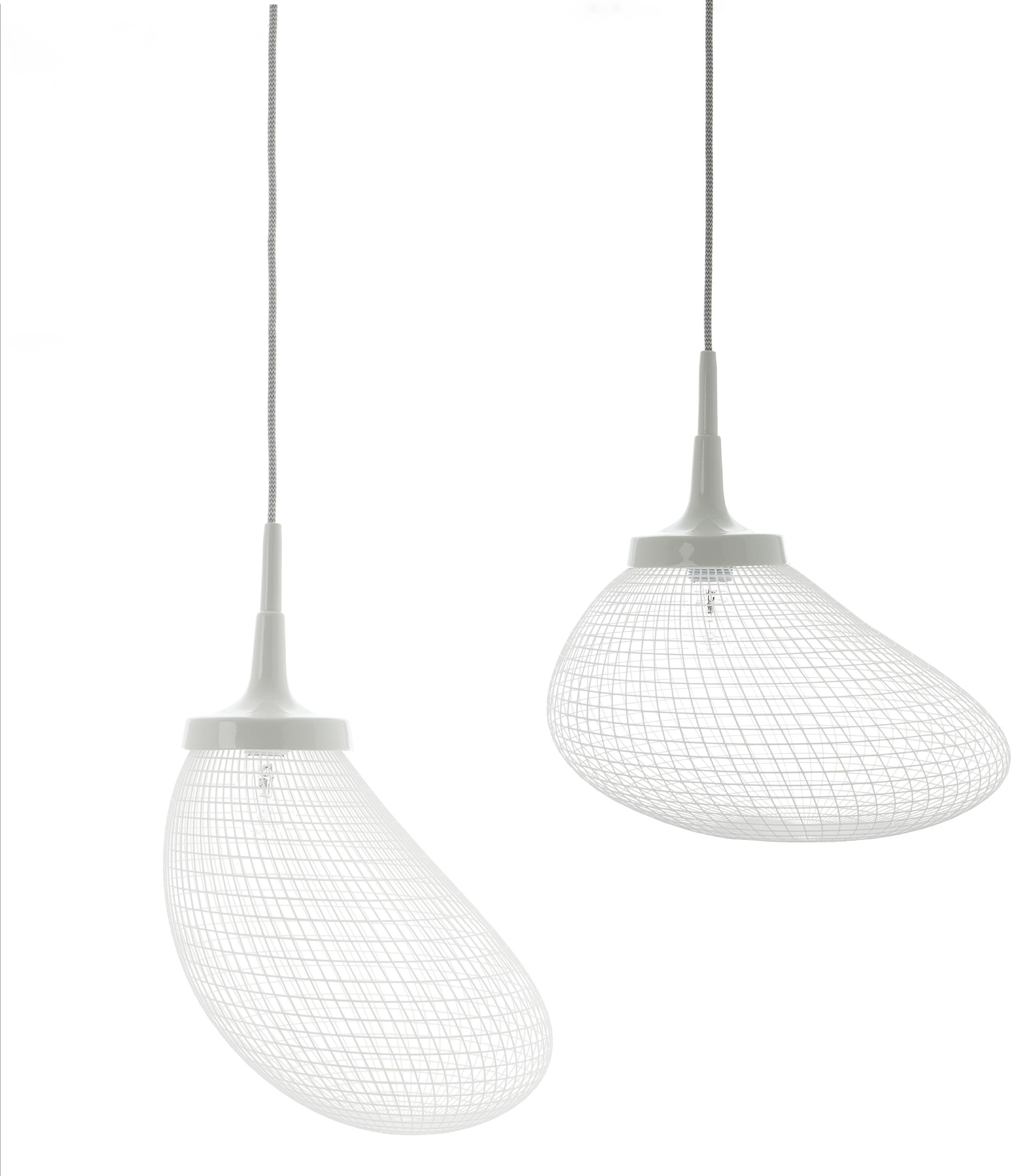 Twee keer Light Breeze lampen van Alex de Witte