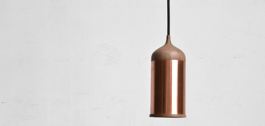 Copper lamp van Steven Banken
