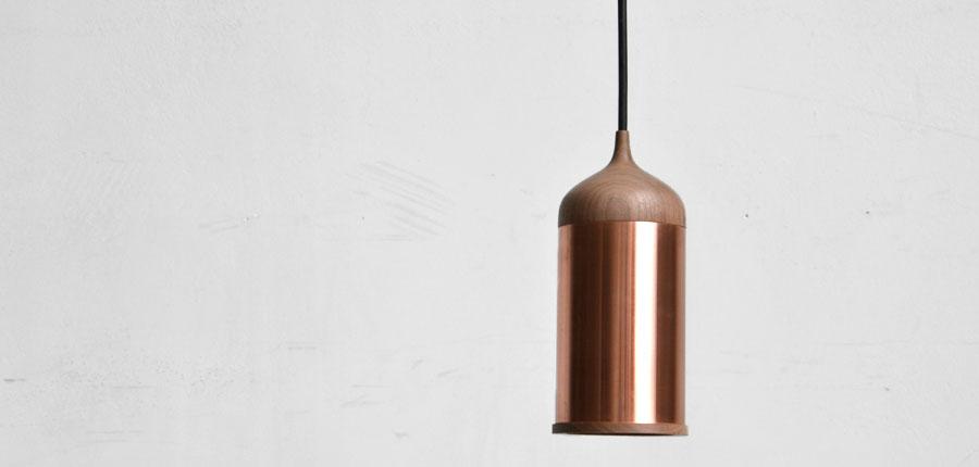 Copper lamp van Steven Banken