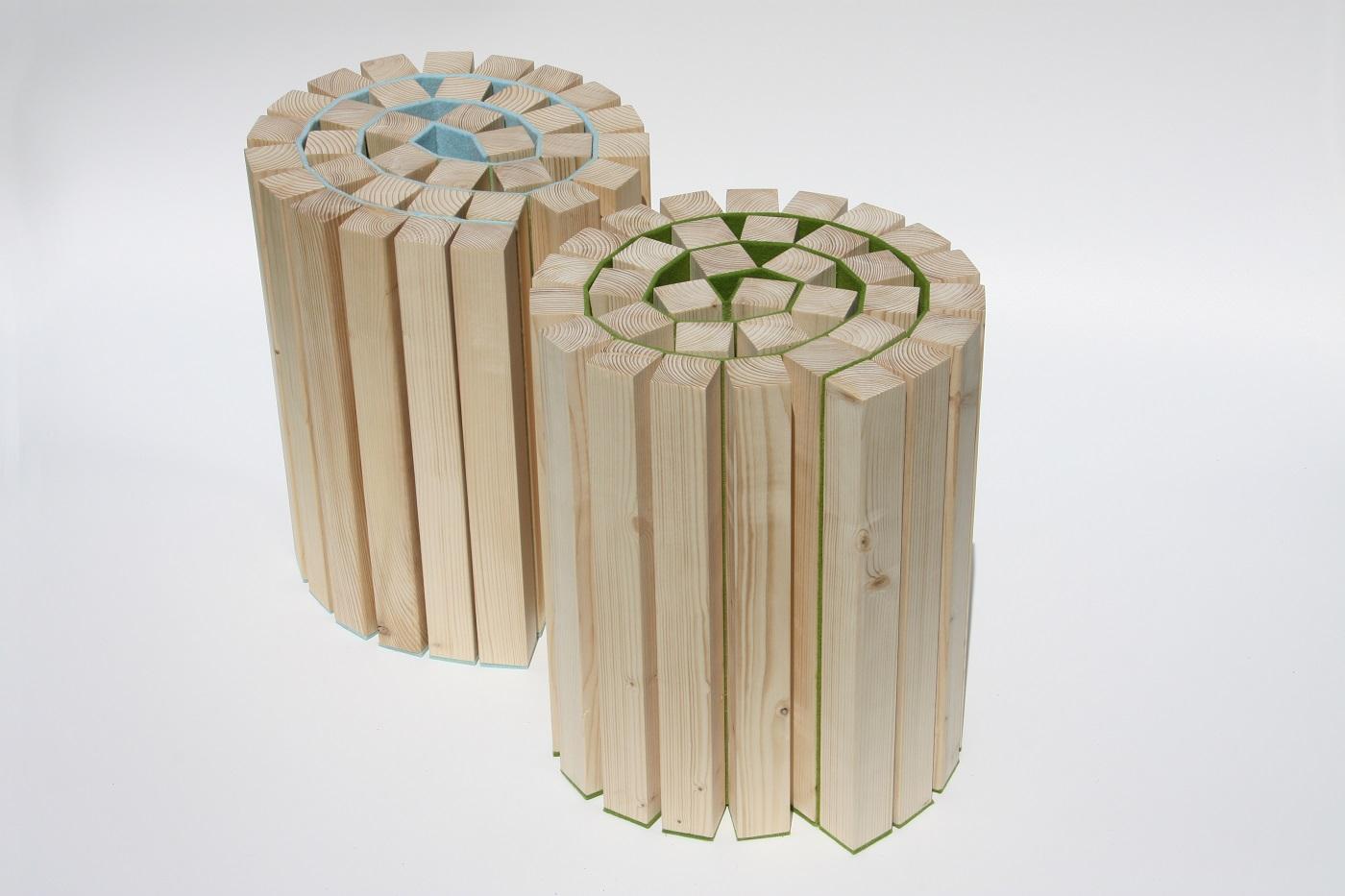 Taboeretka krukje van Kuiken Design kan ook als bijzettafel of voetenbankje