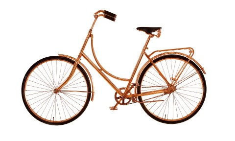 Koperen fiets van Bart van Heesch