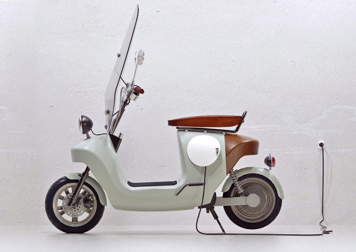 Een scooter van planten!