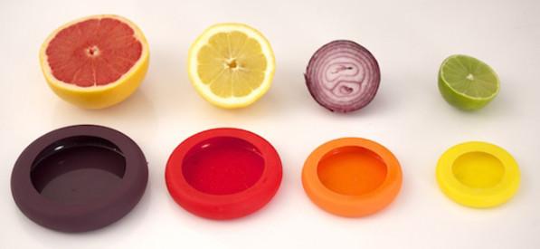 Bewaar halve groente fruit netjes