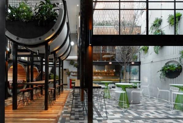 Binnenplaats Prahan hotel Melbourne