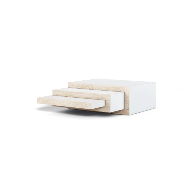 Coffee Table REK Ash Wood white STILST - Gimmii shop
