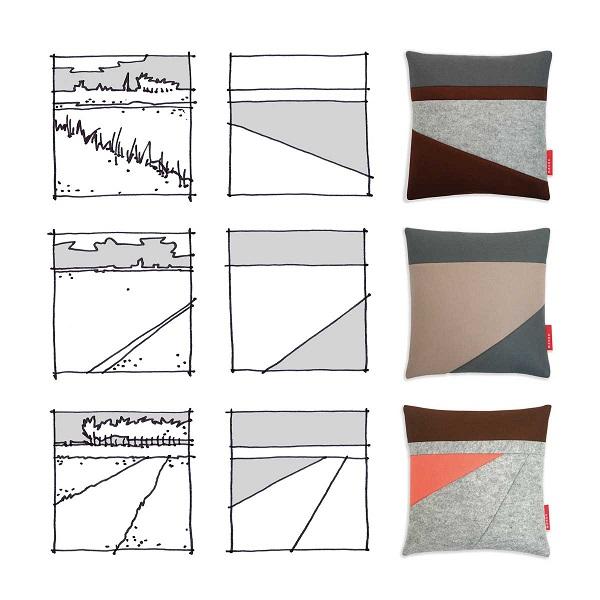 Collage concept landschap kussens Min 4 meter NAP van Manon Garritsen
