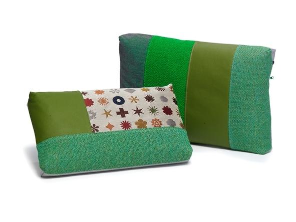 Groene kussens Spectrum Marlies Spaan