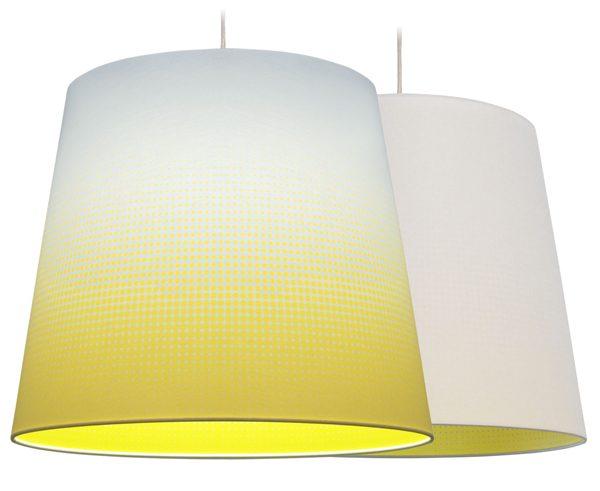 Hanglamp Mist geel taps – Marc Th. van der Voorn