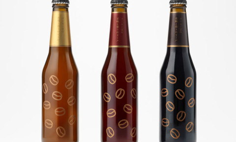 Nendo koffiebier flesjes ontwerp voor Sekinoichi