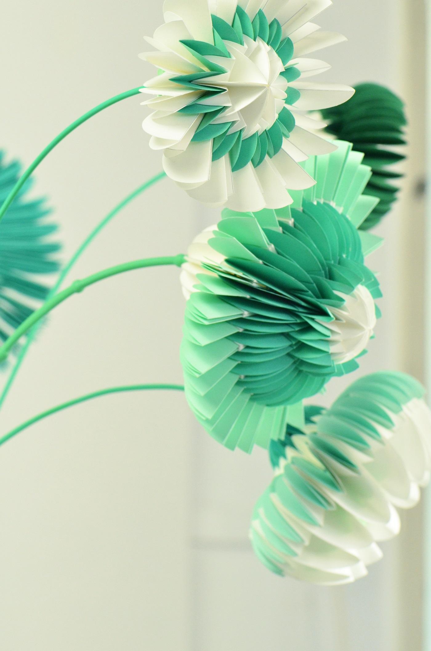 Paperflowers groen van Jorine Oosterhoff