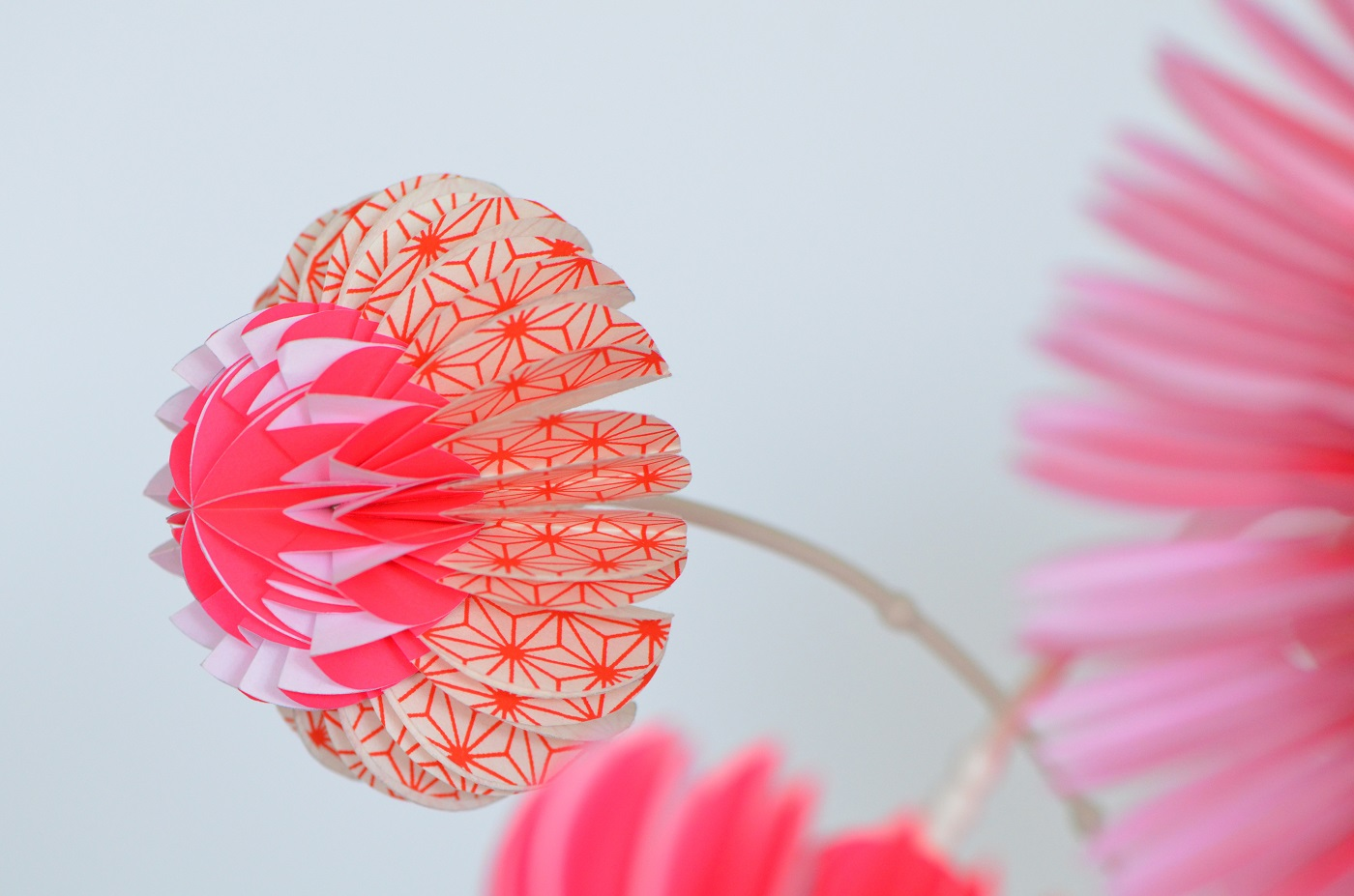 Paperflowers roze van Jorine Oosterhoff in Gimmii Magazine