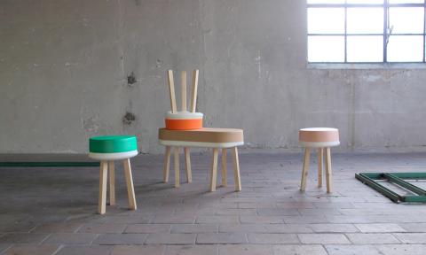 Swell collectie krukjes bankje Earnest Studio Rachel Griffin
