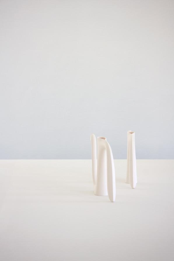 Aldo Bakker nieuw collectie porselein expositie Villa Noailles