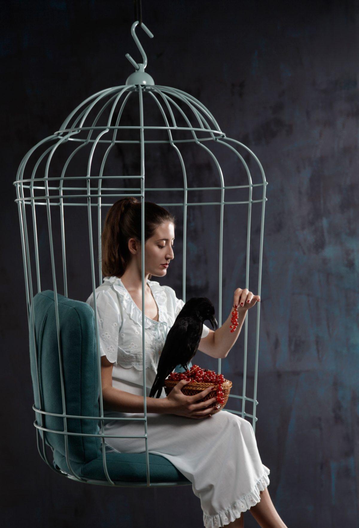 Cageling hangstoel – Ontwerpduo gimmii