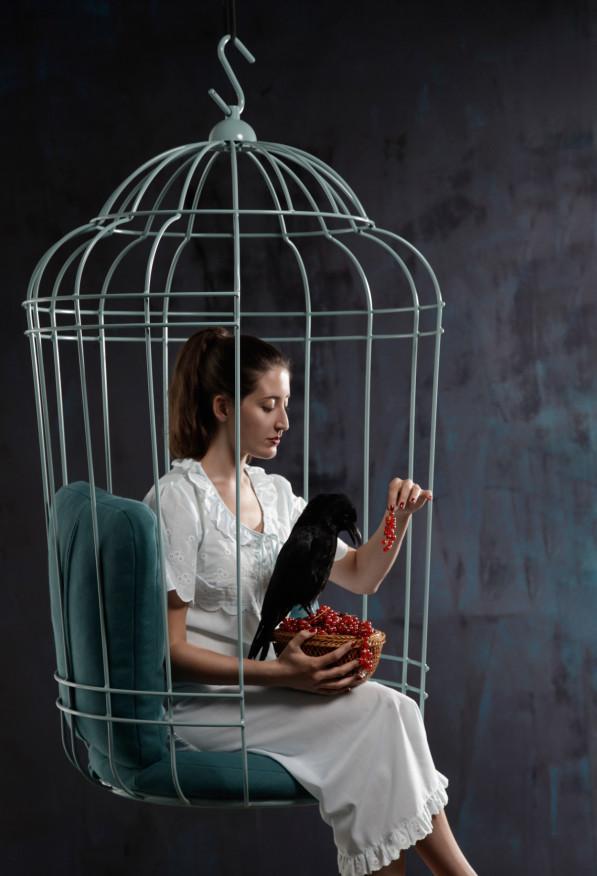 Cageling hanging chair - Ontwerpduo hangstoel