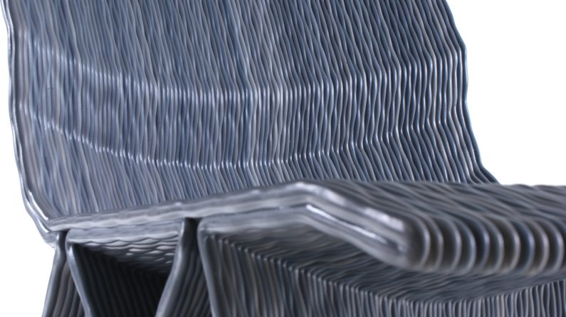 Endless pulse low chair – blended ash-grey – Dirk van der Kooij