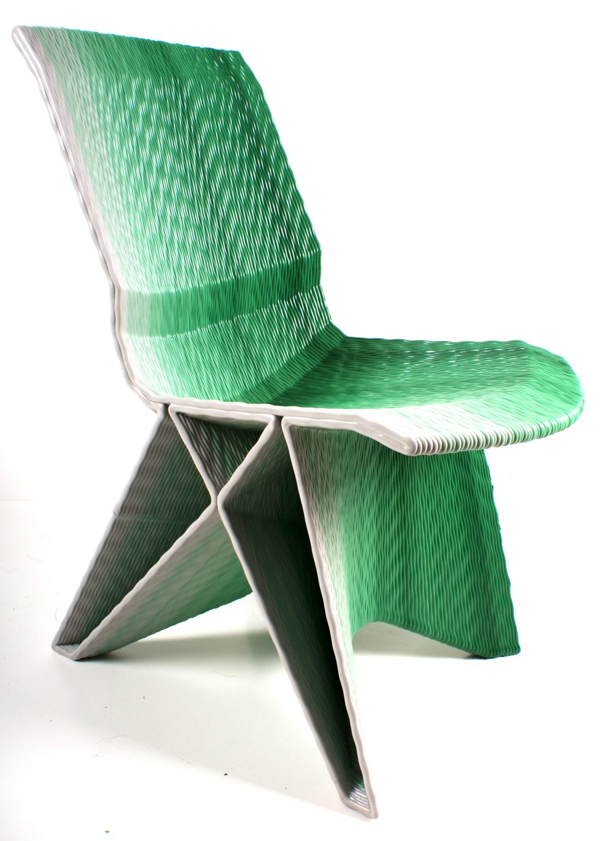 Endless pulse low chair – gradient groen – Dirk van der Kooij