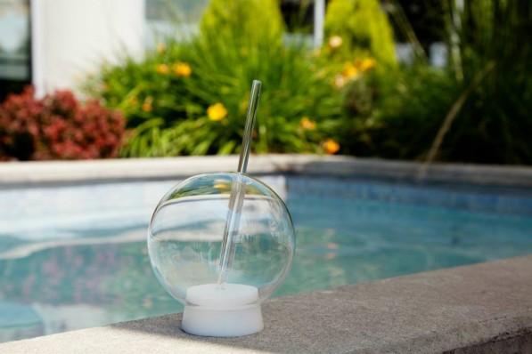 Glas Halm chique tegen wespen zwembad VINICE