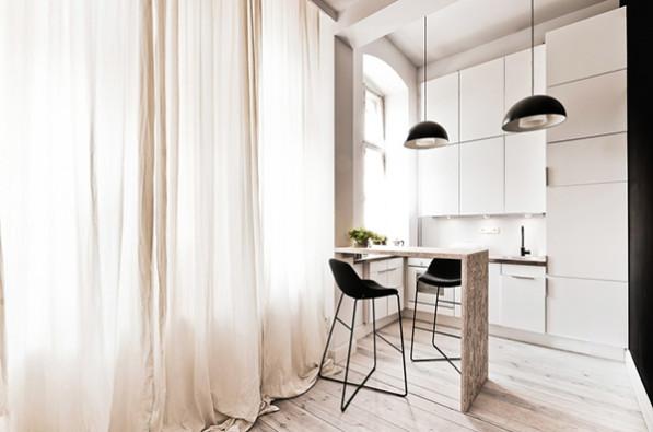 Keuken 29 vierkante meter appartment in Poland