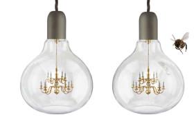 King Edison hanglamp peer mini kroonluchter