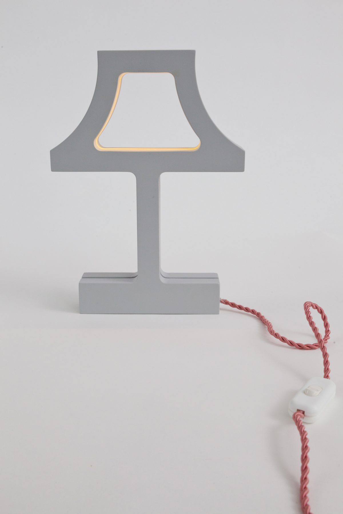 Tafellamp The Missing Bulb classic grijs rood snoer – Jolanda van Goor