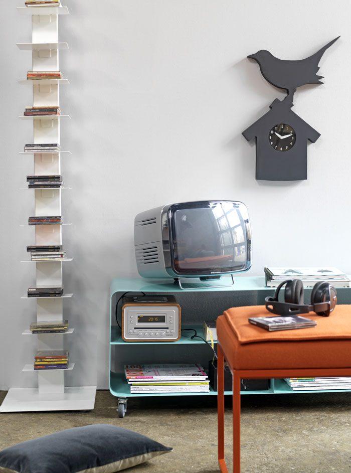 Wandklok Robin met schoolbordverf  – Marc Th. van der Voorn – gimmii shop Dutch design