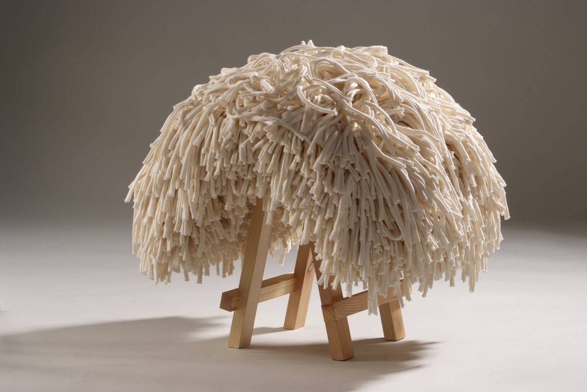 Funky Dread Stool white