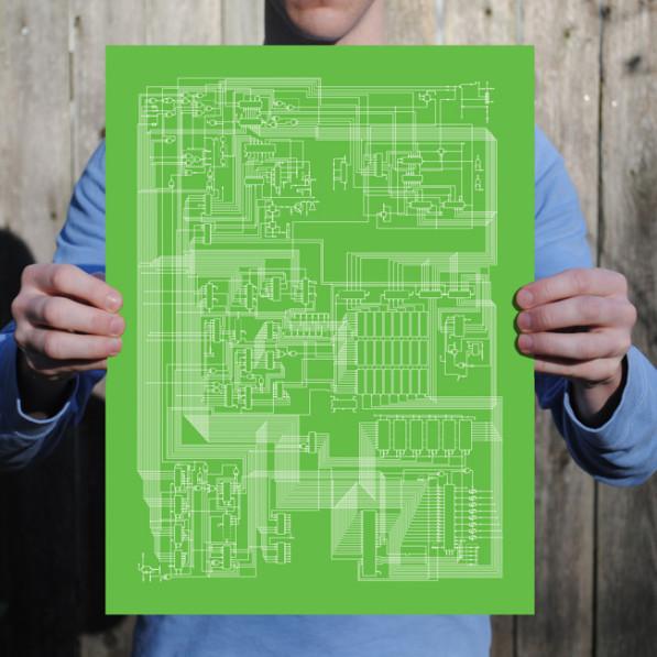 Apple ll grafische prints