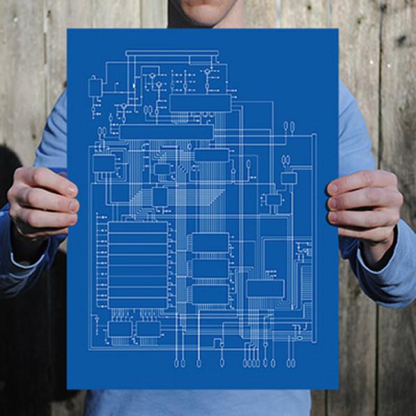 Commodore 64 schematische print