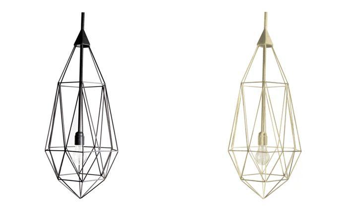 Diamond – Large hanglamp goud en zwart – JSPR