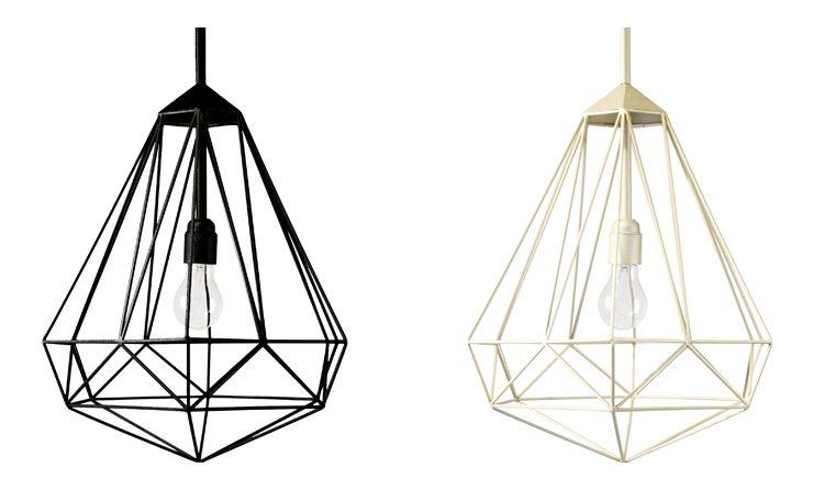 Diamond – Medium hanglamp goud en zwart – JSPR