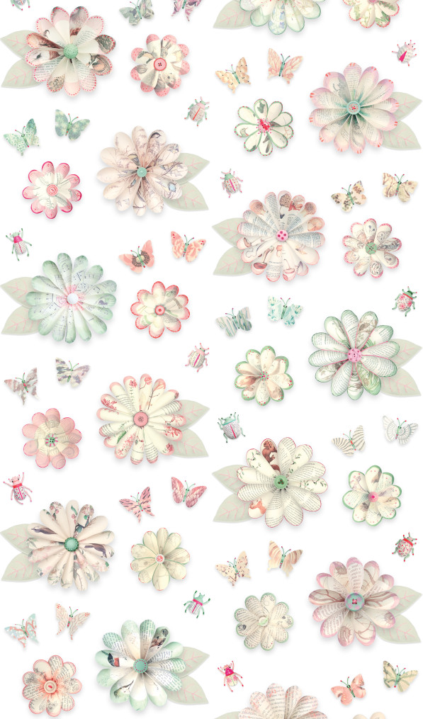Flowers wallpaper-bloemenbehang - Studio Ditte