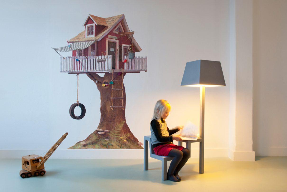 Stoel-tafel-lamp stimuleert creativiteit
