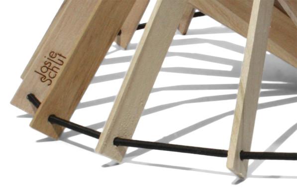Fruitschaal SCALE detail hout - Josje Schut