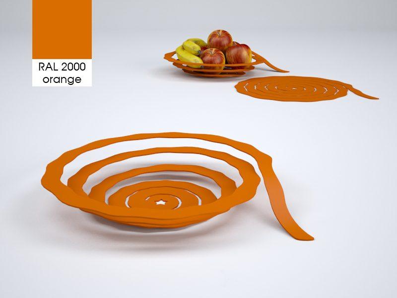 Fruitskin fruitschaal oranje – Wouter Biegelaar