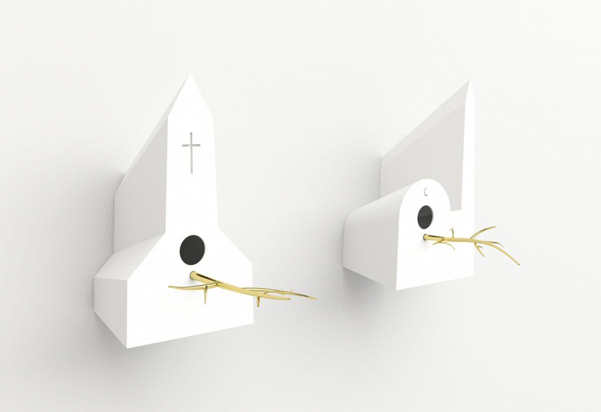 Holy Homes vogelkerk en vogelmoskee wit – Frederik Roijé