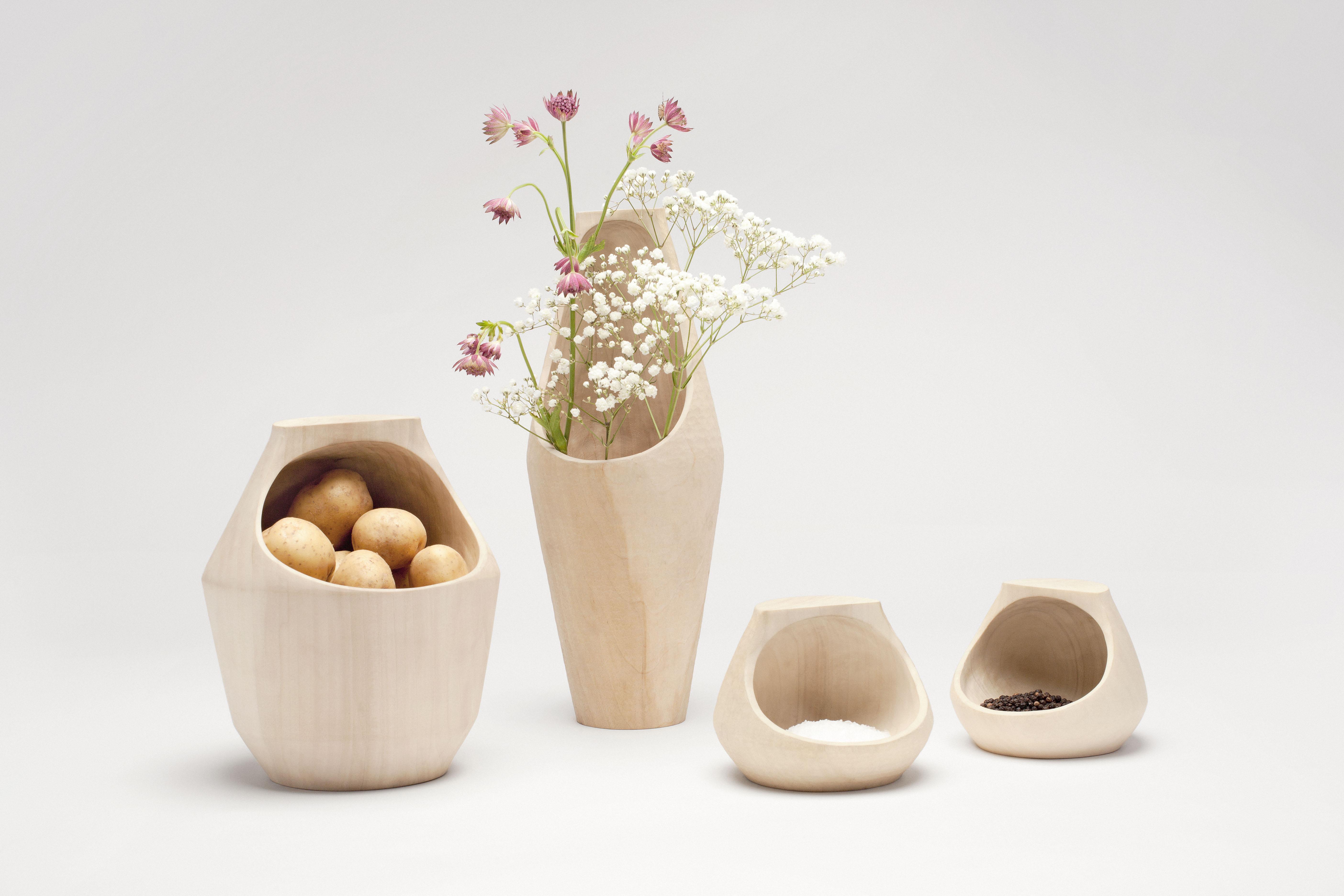 Houten potten en vazen van daan brandenburg gimmii magazine - Kleden houten wand ...