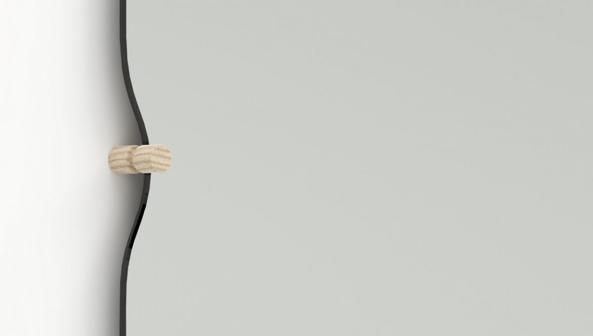 Morphed Mirror blank houten deuvel  – Frederik Roijé