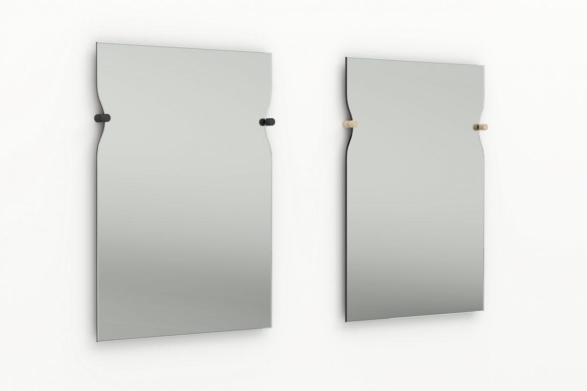 Morphed Mirror zwart en blank hout – Frederik Roijé