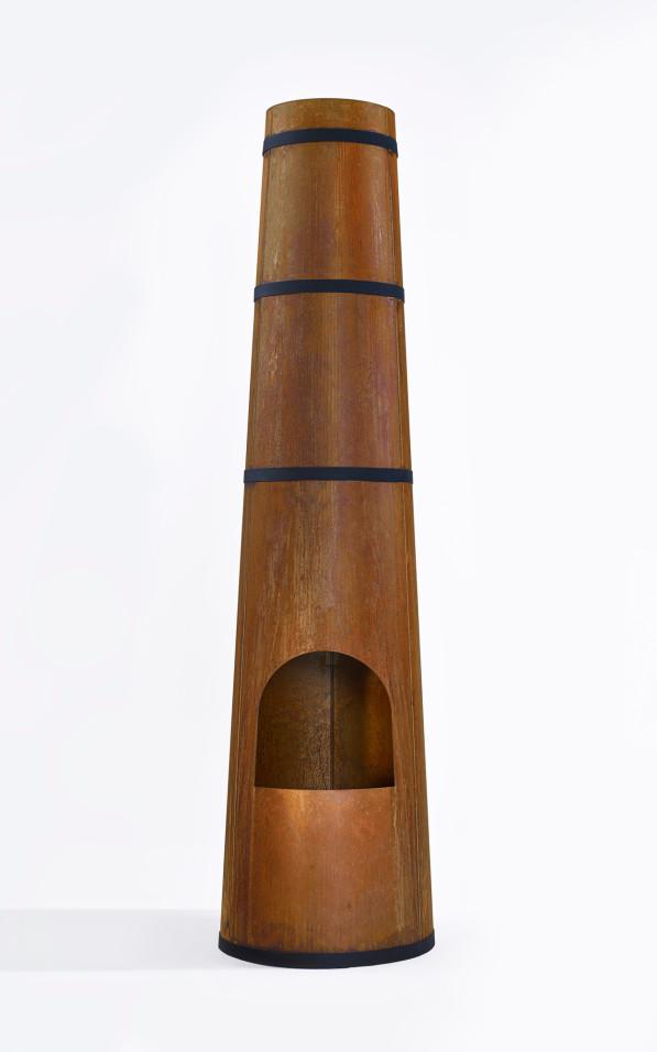 Smokestack cortenstaal tuinhaard - Frederik Roijé